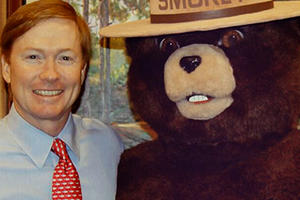 Commissioner Putnam and Smokey Bear