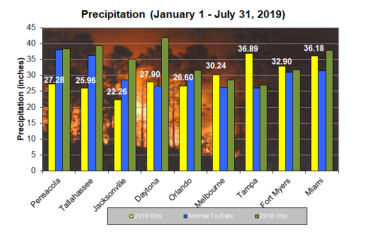 Year to Date Rainfall / Forecasts / Fire Weather / Wildland