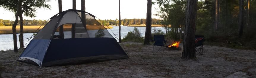 Camping at Tate's Hell State Forest