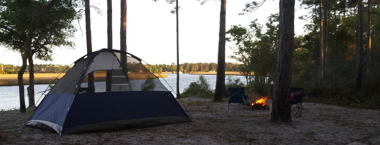 Camp along the River Banks