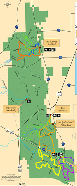 Map of Goethe State Forest