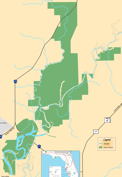 Map Of Arcadia Florida.Peace River State Forest State Forests Our Forests Florida