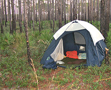 Photo: Tent for primitive camping