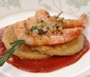 Picture: Garlic Shrimp and Fried Green Tomatoes