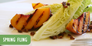 Photo: Grilled vegetables with Spring Fling text
