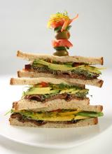 Crispy Peppered Bacon and Avocado Sandwiches with Herbed Mayo