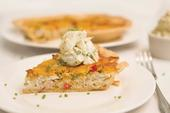 Florida Blue Crab and Tomato Quiche