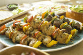 Florida Shrimp and Sweet Pepper Skewers