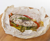 Florida Swordfish and Vegetables Mélange Baked in Parchment Paper