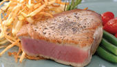 Florida Yellowfin Tuna with Pepper Garlic Crust