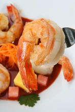 Grilled Florida Shrimp with Mango and Orange Barbecue Sauce