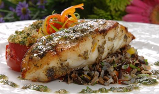 Herb crusted baked grouper grouper seafood recipes for Grouper fish recipes