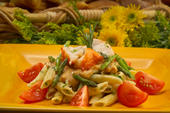 Lobster with Tomato-Herb Penne Pasta