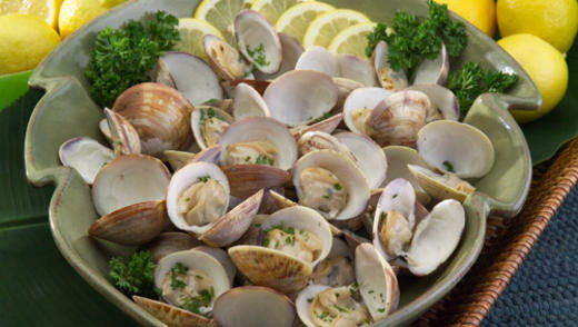Oven Roasted Clams with Herb Butter