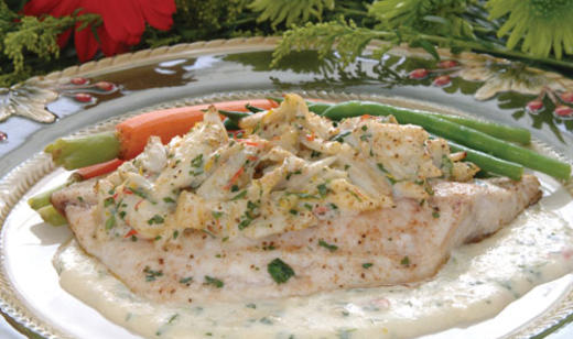 Pompano with Blue Crab in Citrus Cream