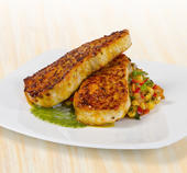 Latin Spiced Amberjack with Corn Relish and Cilantro Oil