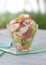 Cooked Pink Shrimp and Citrus Ceviche