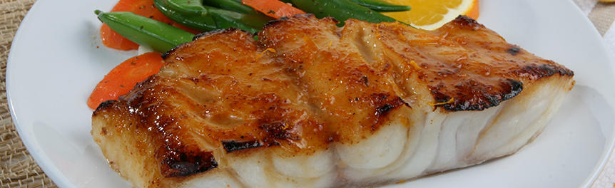 Honey Orange Glazed Florida Grouper