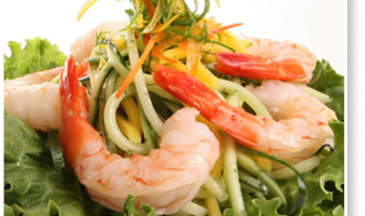Cucumber, Mango and Wild Shrimp Salad