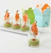 Florida Lobster Bites with Avocado-Lime Puree