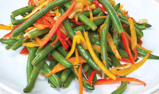 Florida Snap Bean and Sweet Pepper Sauté