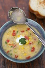 Florida Sweet Corn and Tomato Bisque