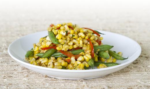 Florida Sweet Corn, Snap Bean and Bell Pepper Sauté