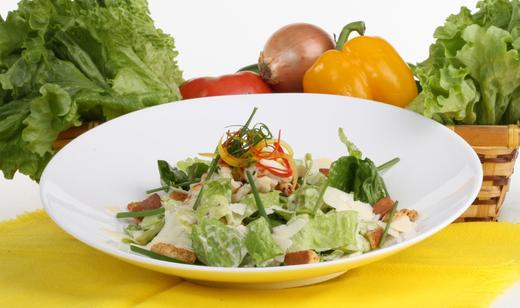 Healthy Homemade Caesar Salad