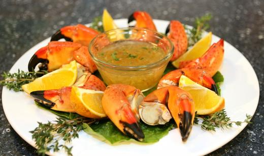 Florida Stone Crab Claws with Orange Horseradish Sauce