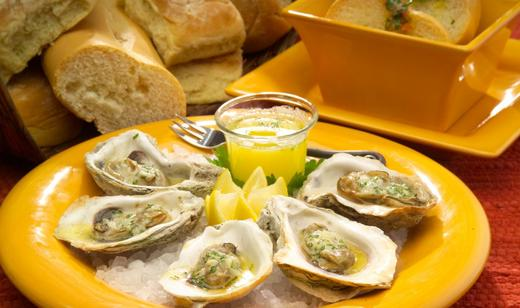 Lemon Garlic Oysters
