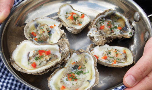 Pan Roasted Florida Oysters